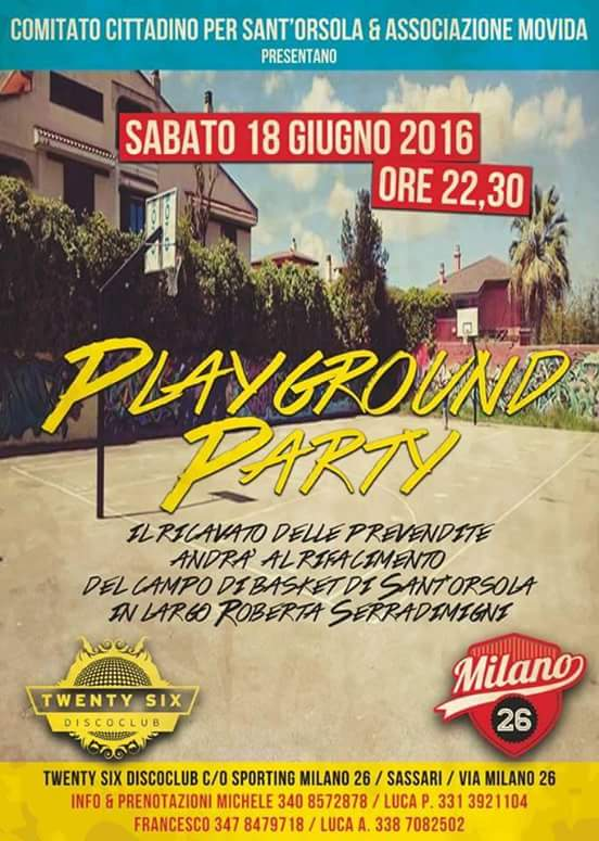 Locandina Playground Party