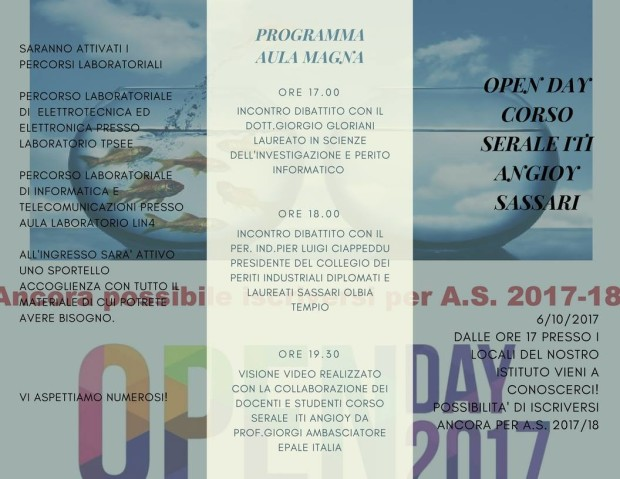 Brochure Open Day Industriali 2017