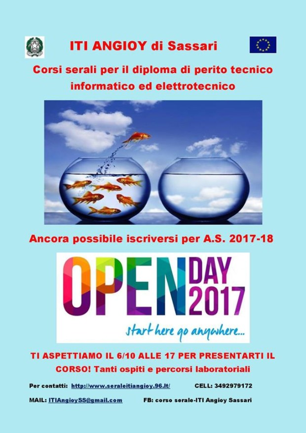 Locandina Open Day Industriali 2017